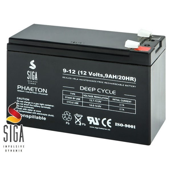SIGA AGM Battery 9Ah 12 V