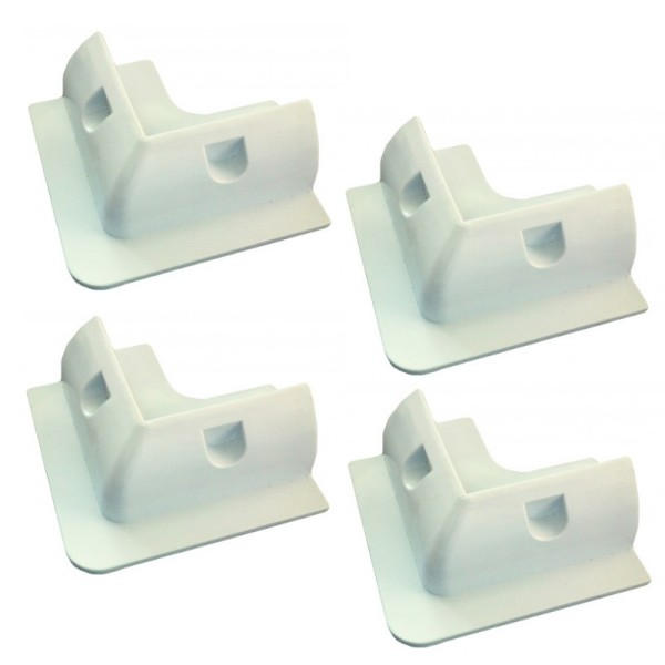 Camping holders ABS 4-corner in White