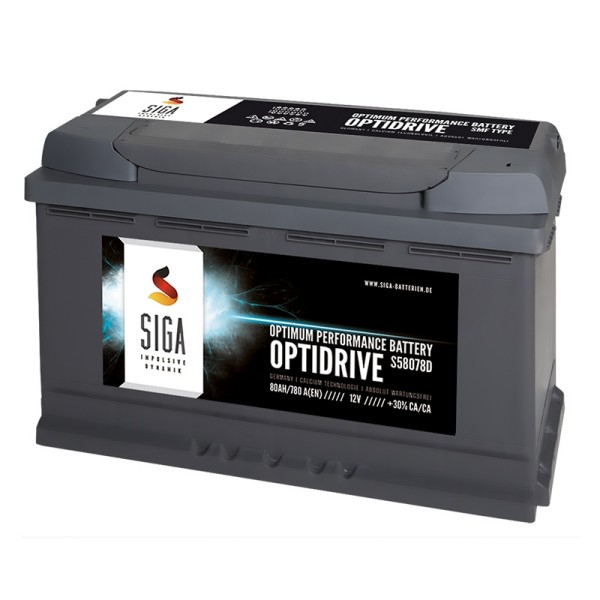 SIGA OPTIDRIVE car battery 80Ah
